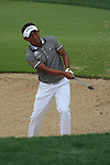 Thongchai Jaidee playing out of the green side bunker on the 8th on day two of the Abu Dhabi HSBC Golf Championship 2011, at the Abu Dhabi golf club, UAE. 21/1/11..Picture Fran Caffrey/www.golffile.ie.