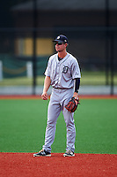 GCL Tigers West shortstop Chad Sedio (35) during a game against the GCL Tigers East on August 4, 2016 at Tigertown in Lakeland, Florida.  GCL Tigers West defeated GCL Tigers East 7-3.  (Mike Janes/Four Seam Images)