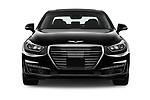 Car photography straight front view of a 2019 Genesis G90 Ultimate 4 Door Sedan