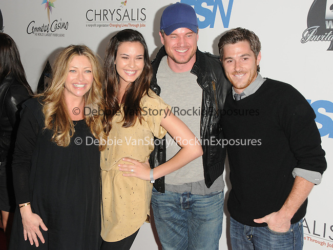Eric Dane,Rebecca Gayheart,Dave Annable and girlfriend Odette Yustman at The World Poker Tour Celebrity Invitational Tournament held at The Commerce Casino in The City of Commerce, California on February 20,2010                                                                   Copyright 2010  DVS / RockinExposures