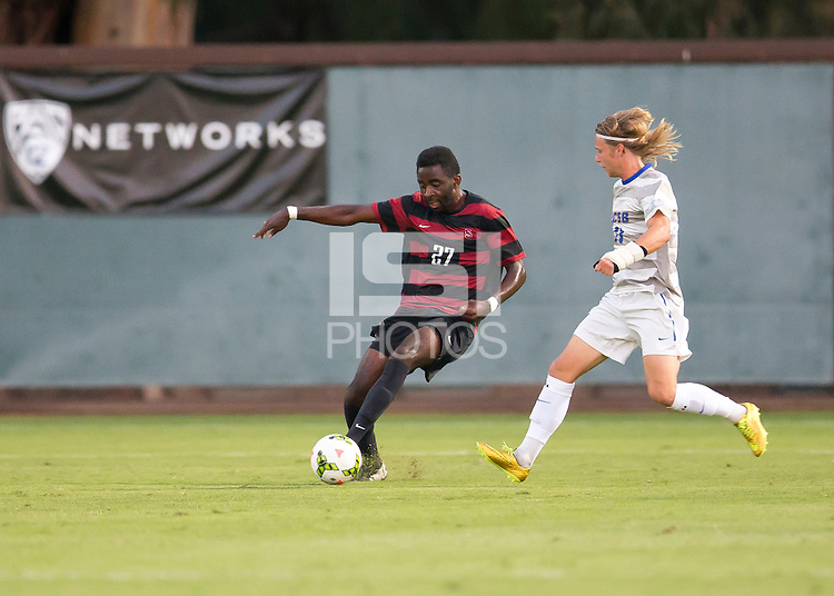 Stanford CA - September 9, 2014.  Stanford Mens Soccer vs. UC Santa Barbara at Laird Q. Cagan Stadium on the Stanford Campus.  Stanford wins 4-1.
