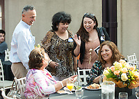 Photo from First Generation Graduation Reception on Branca Patio on May 17, 2012 as part of Occidental College's 2012 commencement. (Photo by Marc Campos, Occidental College Photographer)