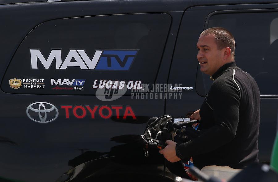 Apr. 28, 2013; Baytown, TX, USA: NHRA top fuel dragster driver Brandon Bernstein during the Spring Nationals at Royal Purple Raceway. Mandatory Credit: Mark J. Rebilas-
