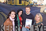 CHRISTMASSY: Killorglin residents who are planning to erect Christmas lights and a tree in the town on December 6th, l-r: Maura Moriarty, Orna Moriarty Eccles, Erwin Kingston, Geraldine O'Sullivan.