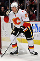 DAVID MOSS,  of the Calgary Flames in action  during the Flames  game against the Chicago Blackhawks at the United Center in Chicago, IL.  The Chicago Blackhawks beat the Calgary Flames 4-2 in Chicago, Illinois on December 5, 2011....