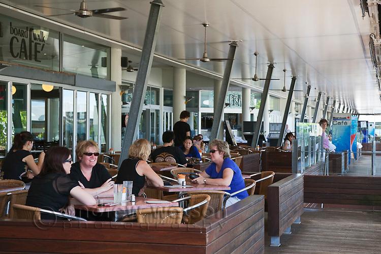 Diners at Boardwalk Cafe.  The Pier, Cairns, Queensland, Australia