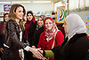 21.02.2017; Amman, Jordan: QUEEN RANIA<br />attended an interactive workshop at Al Bayader Secondary Vocational School for Girls.<br />During the visit she honored sixty-seven schools as recipients of the Healthy Schools National Accreditation for the academic year 2015-2016.<br />Mandatory Photo Credit: &copy;Royal Hashemite Court/NEWSPIX INTERNATIONAL<br /><br />PHOTO CREDIT MANDATORY!!: NEWSPIX INTERNATIONAL(Failure to credit will incur a surcharge of 100% of reproduction fees)<br /><br />IMMEDIATE CONFIRMATION OF USAGE REQUIRED:<br />Newspix International, 31 Chinnery Hill, Bishop's Stortford, ENGLAND CM23 3PS<br />Tel:+441279 324672  ; Fax: +441279656877<br />Mobile:  0777568 1153<br />e-mail: info@newspixinternational.co.uk<br />&ldquo;All Fees Payable To Newspix International&rdquo;