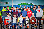 MEDALS: Kerry Minor Captain Mark O'Connor presented medals to the Annascaul/ Lispole Under 14 team that won the West Kerry Final and the Under 13 Annascaul/ Lispole team that won the league at a function in Annascaul on Saturday last.