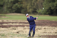 Gonzalo Fernandez-Castano (ESP) on the 2nd during Round 2 of the Sky Sports British Masters at Walton Heath Golf Club in Tadworth, Surrey, England on Friday 12th Oct 2018.<br /> Picture:  Thos Caffrey | Golffile<br /> <br /> All photo usage must carry mandatory copyright credit (&copy; Golffile | Thos Caffrey)