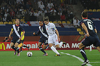 England's Steven Gerrard breaks through the U.S. defense in route to a fourth minute goal in the teams' debut in the 2010 FIFA World Cup. The U.S. and England played to a 1-1 draw in the opening match of Group C play at Rustenburg's Royal Bafokeng Stadium, Saturday, June 12th.