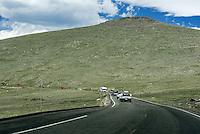 Tourist traffic in Rocky Mountain National Park, Colorado, USA