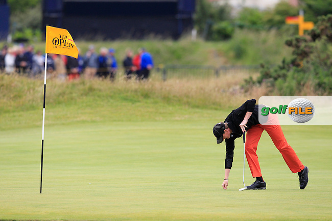 \Jordan Niebrugge (USA) (a)\ during the final round on Monday of the 144th Open Championship, St Andrews Old Course, St Andrews, Fife, Scotland. 20/07/2015.<br /> Picture: Golffile   Fran Caffrey<br /> <br /> <br /> All photo usage must carry mandatory copyright credit (&copy; Golffile   Fran Caffrey)