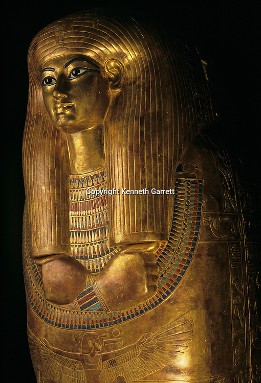 Gilded coffin of Tjuya, KV 46; Valley of the Kings; reign of Amenhotep III,Tutankhamun and the Golden Age of the Pharaohs, Page 131