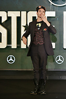 Ezra Miller (Barry Allen / The Flash)<br /> 'Justice League' film photocall in London, England on November 4t, 2017.<br /> CAP/PL<br /> &copy;Phil Loftus/Capital Pictures