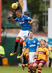 Bruno Alves hangs in the air to clear the danger