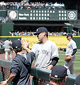 Masahiro Tanaka (Yankees), JUNE 3, 2015 - MLB : New York Yankees starting pitcher Masahiro Tanaka gets congratulation against the Seattle Mariners at Safeco Field in Seattle, United States. (Photo by AFLO)