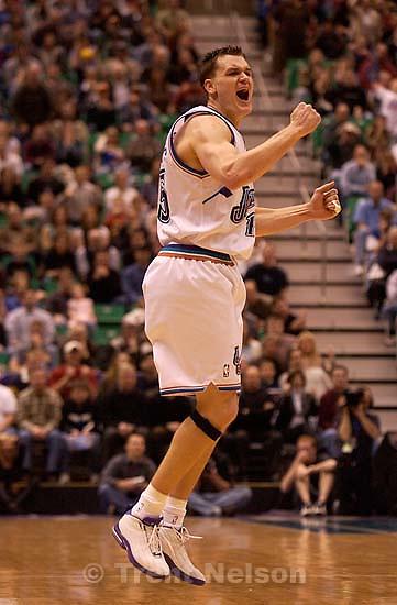 Matt Harpring. Utah Jazz vs. New York Knicks Friday night at the Delta Center.; 04.04.2003, 9:32:49 PM<br />