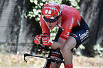 Chad Haga (USA) Team Sunweb powers to victory during Stage 21 the final stage of the 2019 Giro d'Italia, an individual time trial running 17km from Verona to Verona, Italy. 2nd June 2019<br /> Picture: Fabio Ferrari/LaPresse | Cyclefile<br /> <br /> All photos usage must carry mandatory copyright credit (© Cyclefile | Fabio Ferrari/LaPresse)