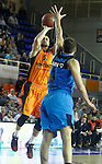 Montakit Fuenlabrada's Ivan Paunic (l) and Alba Berlin's Elmedin Kikanovic during Eurocup, Regular Season, Round 6 match. November 16, 2016. (ALTERPHOTOS/Acero)