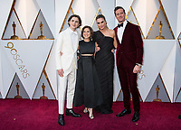 Timoth&eacute;e Chalamet, Oscar&reg; nominee, Nicole Flender, Elizabeth Chambers, Armie Hammer arrive on the red carpet of The 90th Oscars&reg; at the Dolby&reg; Theatre in Hollywood, CA on Sunday, March 4, 2018.<br /> *Editorial Use Only*<br /> CAP/PLF/AMPAS<br /> Supplied by Capital Pictures