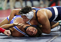 PHILADELPHIA, PA - NOVEMBER 18: Shakur Rasheed (top) of the Penn State Nittany Lions wrestles during a match at the Keystone Classic on November 18, 2018 at The Palestra on the campus of the University of Pennsylvania in Philadelphia, Pennsylvania. (Photo by Hunter Martin/Getty Images) *** Local Caption *** Shakur Rasheed