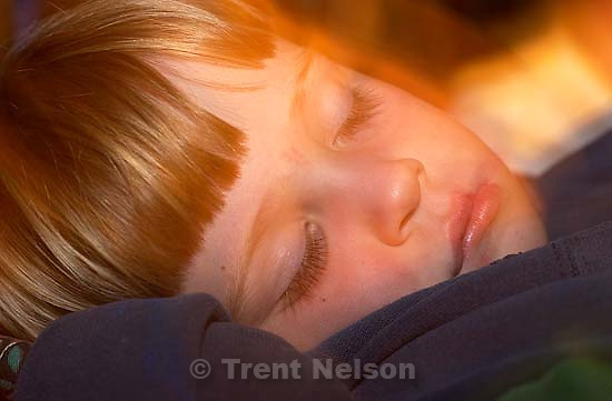 Nathaniel Nelson asleep at the California theme park. 10/07/2001, 9:10:18 PM<br />