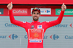 Jesus Herrada (ESP) Cofidis takes over the race leaders Red Jersey at the end of Stage 12 of the La Vuelta 2018, running 181.1km from Mondonedo to Faro de Estaca de Bares. Manon, Spain. 6th September 2018.<br /> Picture: Unipublic/Photogomezsport | Cyclefile<br /> <br /> <br /> All photos usage must carry mandatory copyright credit (&copy; Cyclefile | Unipublic/Photogomezsport)