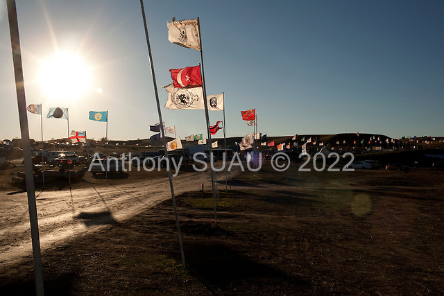 near St. Anthony, North Dakota<br /> September 25, 2016<br /> <br /> The Dakota Access Pipeline under construction, will transport light, sweet crude oil from the North Dakota Bakken region through South Dakota and Iowa into Illinois.<br /> <br /> The Standing Rock Sioux, whose tribal lands are a half-mile south of the proposed route, say the pipeline would desecrate sacred burial and prayer sites, and could leak oil into the Missouri and Cannon Ball rivers, on which the tribe relies for water.<br /> <br /> Opposition to the pipeline has drawn support from 200 Native American tribes, as well as from activists and celebrities. <br /> <br /> Energy Transfer Partners—one of the major stakeholders in the controversial Dakota Access pipeline—bought over 6,000 acres of land surrounding the line's route in North Dakota, according to several media reports over the weekend.