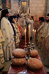 Israel, Lod, Greek Orthodox Patriarch Theophilus III at the Church of St. George on the day of St. George
