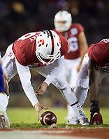 Stanford, CA - October 5, 2019: Richard McNitzky at Stanford Stadium. The Stanford Cardinal beat the University of Washington Huskies 23-13.