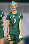 12 September 2013: Miami's Gianna Dal Pozzo. The Duke University Blue Devils hosted the University of Miami Hurricanes at Koskinen Stadium in Durham, NC in a 2013 NCAA Division I Women's Soccer match. Duke won the game 3-0.