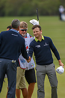 Zach Johnson (USA) shakes hands with Matt Kuchar (USA) following Round 2 of the Valero Texas Open, AT&T Oaks Course, TPC San Antonio, San Antonio, Texas, USA. 4/20/2018.<br /> Picture: Golffile | Ken Murray<br /> <br /> <br /> All photo usage must carry mandatory copyright credit (© Golffile | Ken Murray)