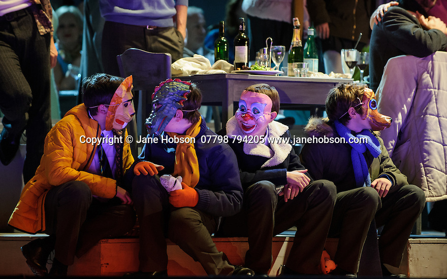 English National Opera presents, in a co-production with Dutch National Opera, Amsterdam, Puccini's LA BOHEME, at the London Coliseum. Picture shows: The company