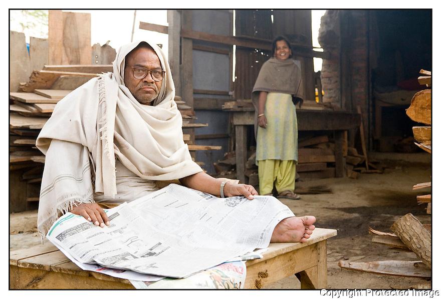 Inde<br /> Varanasi- Commer&ccedil;ant.