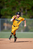 Cade Doughty during the WWBA World Championship at the Roger Dean Complex on October 18, 2018 in Jupiter, Florida.  Cade Doughty is a shortstop from Denham Springs, Louisiana who attends Denham Springs High School and is committed to Louisiana State.  (Mike Janes/Four Seam Images)