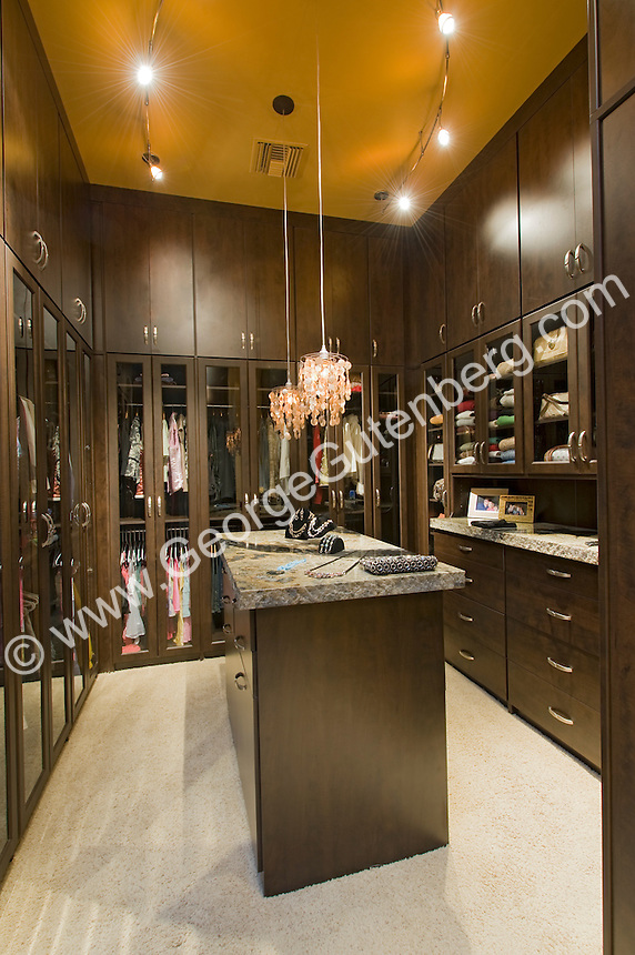 Beautiful Master Closet With Glass Doors
