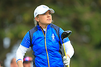 Bronte Law (EUR) on the 2nd tee during Day 3 Singles at the Solheim Cup 2019, Gleneagles Golf CLub, Auchterarder, Perthshire, Scotland. 15/09/2019.<br /> Picture Thos Caffrey / Golffile.ie<br /> <br /> All photo usage must carry mandatory copyright credit (© Golffile | Thos Caffrey)