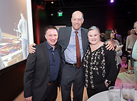President Jonathan Veitch, Megan Wanlass '94 and her brother Ralph Wanlass'91<br /> Special guests, Trustees, alumni, faculty and staff gather for the dedication reception for Occidental College's newly opened Oxy Arts building on York Boulevard on Oct. 3, 2019. Oxy Arts is Oxy's community art center located in Highland Park, one block south of campus.<br /> (Photo by Marc Campos, Occidental College Photographer)