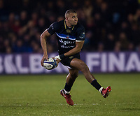 Bath Rugby's Jonathan Joseph<br /> <br /> Photographer Bob Bradford/CameraSport<br /> <br /> European Champions Cup Round 5 - Bath Rugby v Scarlets - Friday 12th January 2018 - The Recreation Ground - Bath<br /> <br /> World Copyright &copy; 2018 CameraSport. All rights reserved. 43 Linden Ave. Countesthorpe. Leicester. England. LE8 5PG - Tel: +44 (0) 116 277 4147 - admin@camerasport.com - www.camerasport.com