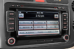 Stereo audio system close up detail view of a 2009 Volkswagen Tiguan SEL