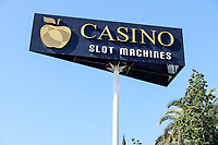 Casino signage, Hotel H10 Nueva Andalucia, Puerto Banus, Spain. November, 2017, 201711244042<br /><br />Copyright Image from Victor Patterson, 54 Dorchester Park, <br />Belfast, UK, BT9 6RJ<br /><br />t1: +44 28 9066 1296 (from Rep of Ireland 048 9066 1296)<br />t2: +44 28 9002 2446 (from Rep of Ireland 048 9002 2446)<br />m: +44 7802 353836<br /><br />e1: victorpatterson@me.com<br />e2: victorpatterson@gmail.com<br /><br />www.victorpatterson.com<br /><br />Please see my Terms and Conditions of Use at www.victorpatterson.com. It is IMPORTANT that you familiarise yourself with them.<br /><br />Images used on the Internet must be visibly watermarked i.e. © Victor Patterson within the body of the image and copyright metadata must not be deleted. Images used on the Internet have a size restriction of 4kbs and will be chargeable at current NUJ rates unless agreed otherwise.<br /><br />This image is only available for the use of the download recipient i.e. television station, newspaper, magazine, book publisher, etc, and must not be passed on to any third party. It is also downloaded on condition that each and every usage is notified within 7 days to victorpatterson@me.com<br /><br />The right of Victor Patterson to be identified as the author is asserted in accordance with The Copyright Designs And Patents Act (1988).