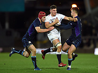 Aaron Hinkley of England U20 takes on the Scotland defence. U20 Six Nations match, between England U20 and Scotland U20 on March 15, 2019 at Franklin's Gardens in Northampton, England. Photo by: Patrick Khachfe / JMP