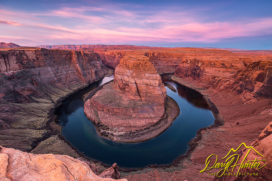 Horseshoe Bend Sunrise.  Horseshoe Bend is an amazing piece of the American Southwest Landscape, I believe carved by the eons of time exclusively to make photographers happy.