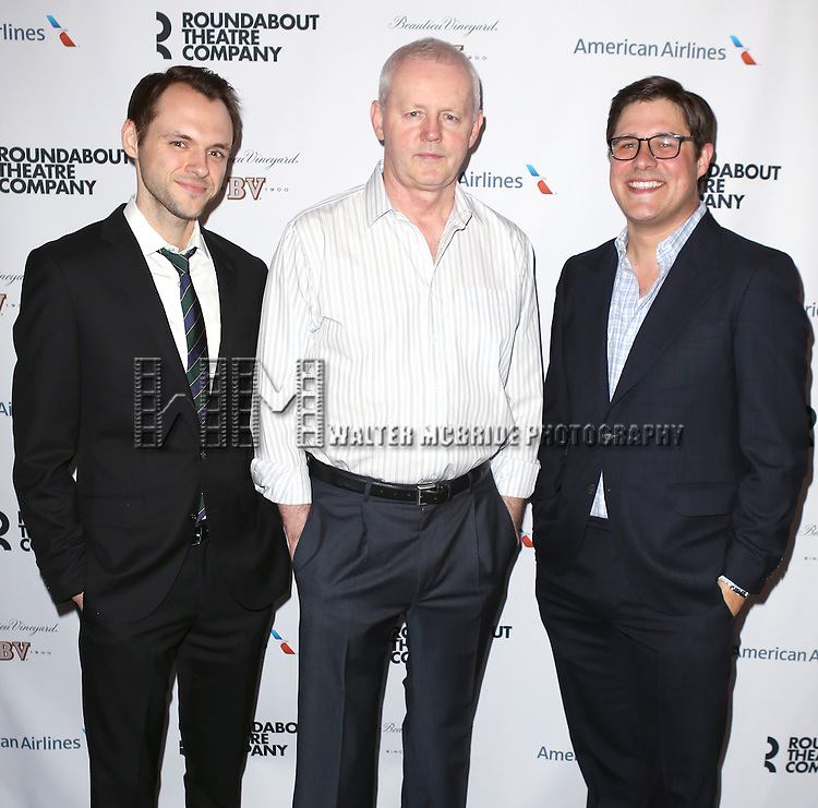 Christopher Denham, David Morse and Rich Sommer attend 'The Unavoidable Disappearance Of Tom Durnin' Opening Night After Party at Laura Pels Theatre on June 27, 2013 in New York City.