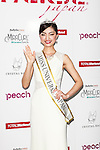 Miss Universe Japan 2016 winner Sari Nakazawa greets to the cameras during a photo-call at the Miss Universe Japan 2016 contest in the Hotel Chinzanso Tokyo on March 1, 2016, Tokyo, Japan. The 23 year-old from Shiga Prefecture captured the crown and will represent Japan at the next Miss Universe international competition. (Photo by Rodrigo Reyes Marin/AFLO)