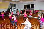Enjoying the Zumba danceathon fundraiser in Collis Sandes House on Sunday in aid of the Marie Keating Foundatio