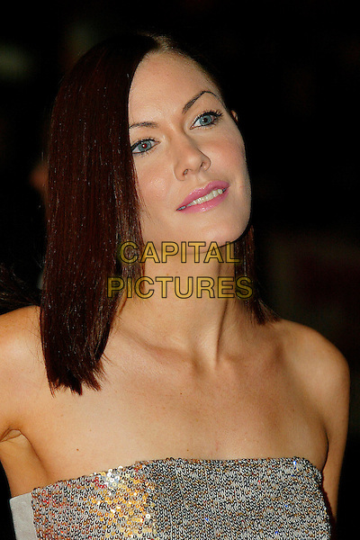 "LINZI STOPPARD.""It's A Boy Girl Thing"" World Charity Premiere,.Odeon West End, London, England, .December 18th 2006..portrait headshot strapless silver grey top.CAP/DAR.©Darwin/Capital Pictures"