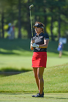 Annie Park (USA) watches her tee shot on 3 during round 1 of the 2018 KPMG Women's PGA Championship, Kemper Lakes Golf Club, at Kildeer, Illinois, USA. 6/28/2018.<br /> Picture: Golffile | Ken Murray<br /> <br /> All photo usage must carry mandatory copyright credit (&copy; Golffile | Ken Murray)