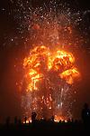 The burning of the Man. Burning Man. Black Rock City, Black Rock Desert, Nevada, USA. September, 2010.