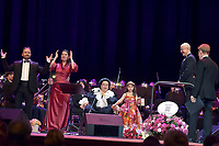 Jordi Galan, Montserrat Marti, Montserrat Caballe and her granddaughter Daniela, Ricardo Estrada, Igor Portnoy<br /> Perfomance at State Kremlin palace, Moscow, Russia on June 06,  2018.<br /> **Not for sale in Russia or FSU**<br /> CAP/PER/EN<br /> &copy;EN/PER/Capital Pictures